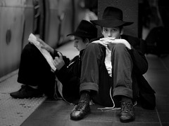 Youth (syphlix) Tags: street nyc newyork childhood kids subway children 50mm candid faith boredom timessquare jew mta orthodox tzitzit intensity tassels yiddish savedbythedeletemeuncensoredgroup