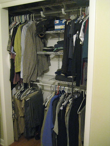 our closet all organized