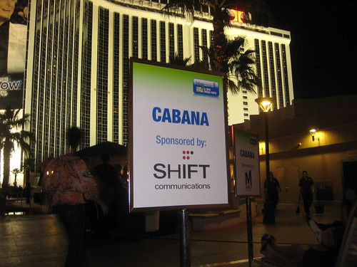 The SHIFT Cabana at the hilton pool @ Blogworld