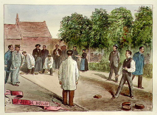 013- El juego de bolos (hoy Petanca)-Lille ancien monumental Edouard Boldoduc  1893