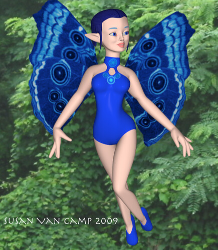 Blue Fairy flies 2