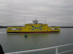 IKEA Branded Red Funnel Ferry (crwilliams) Tags: boats hampshire southampton date:month=october date:day=15 date:year=2009 date:hour=17 date:wday=thursday