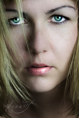 Green Eyes~ (Pink Pixel Photography (f.k.a. Sunny)) Tags: portrait green self eyes facepic thisisme ohmygawd sigma1770mm canoneos400d happygorgeousgreenthursday beautyshoots hggt wwwpinkpixelat pinkpixelphotography andmylittletrustworthywirelessremote