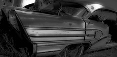Poncho (sandersonjack15) Tags: blackandwhite sculpture cars abandoned car vintage ruins colorado pentax engines carros oldcars distillery decayed theunforgettablepictures yourcaptureisworthmillions travelsofhomeroddesey
