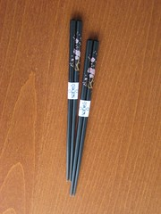 Black sakura chopsticks