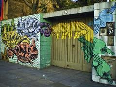 (rei-san) Tags: street camera streetart color green art painting stencil buenosaires mural paint arte artistic buenos aires casio montserrat urbano exilim pintura rundontwalk rdw stencilland exz77