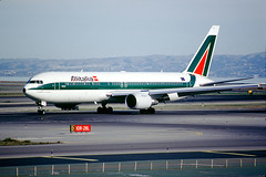 Boeing 767-3Q8ER, Alitalia Airlines, San Francisco International Airport (SFO), CF6-80C2B6F, CF6, EI-CRO, Francesco De Pinedo (Wernher Krutein) Tags: california travel usa plane airplane commerce technology publictransportation sfo aircraft aviation transport jet transportation airline infrastructure boeing airlines airliner 767 aerospace alitalia twinengine widebody jetliner sanfranciscointernationalairport aza b767 longrange passengerplane commercialaviation civilaviation twinaisle cf6 fanjet boeing7673q8er alitaliaairlines compagniaaereaitaliana eicro cf680c2b6f sanfranciscointernationalairportsfo 767300series francescodepinedocn29383