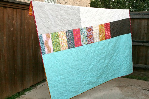 Little Folks Log Cabin Quilt - back