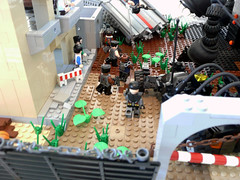 The Insanity of Earth. (Lego Junkie.) Tags: black monster mexico hotel tank lego apocalypse arc fantasy troops baf entry diorama mash forums apoc brickarms