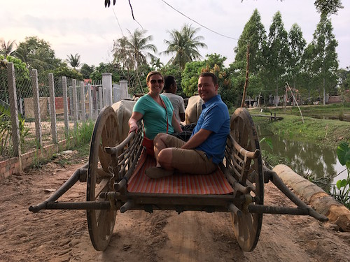Went for a ox-cart ride that night on our way to dinner