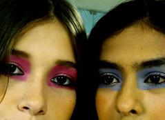 "Backstage - ""Fazendo Moda"" (Natlia Viana) Tags: pink blue make up fashion brasil cores model olhar top moda modelos sombra maquiagem backstage belmpar natliaviana fazendomoda"
