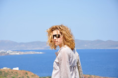 One Last Shot! (Faddoush) Tags: blue sea portrait girl mystery last nikon shot hellas greece asteroid sounio d90 faddoush