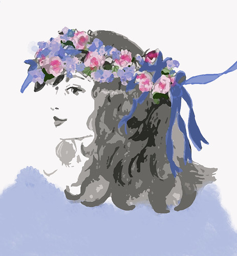 bride-with-blue-ribbons-dry-brush