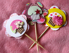 Cupcake Paper Toppers (Rina A.W) Tags: paper colorful craft tags cupcake embellishments toppers