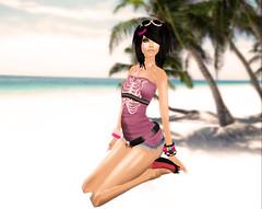 Sunbathing (Beca Staheli) Tags: life gay boy cute beach girly feminine avatar emo crossdressing secondlife kawaii second trap effeminate androgynous bishonen prettyboy shota femboy femboi
