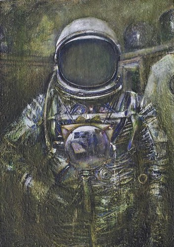 """portrait of the artist as an astronaut/portrait of the astronaut as an artist"" by Ed Saavedra"