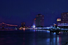 Night shot, Mississippi River