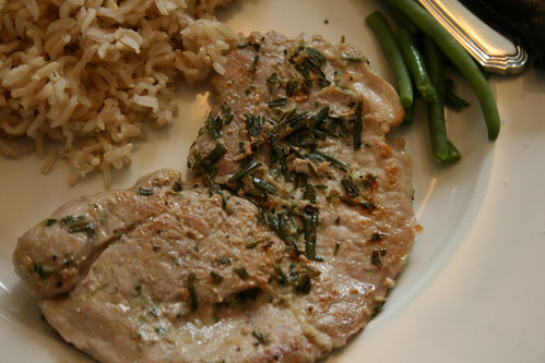 Garden Fresh Marinade: Rosemary Garlic Pork Chops