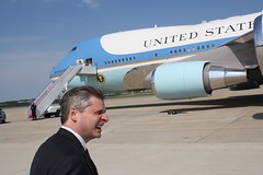 Meacham next to AF One