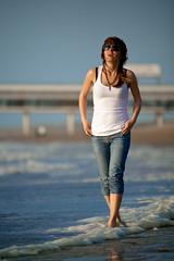 On the Scheveningen  beach