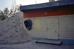 (laurentgaudart) Tags: urban film sand telephone suburbia sable ukraine suburbs tas exploration kiev kyiv outskirts argentique urbain banlieue téléphone україна київ fujipro800z kijów leicacmzoom kyïv konicaminoltadimagescanelite5400ii