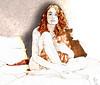 Signal to Noise (vinciane.c) Tags: woman beauty morningafter digitalpainting photomontage redandbrown