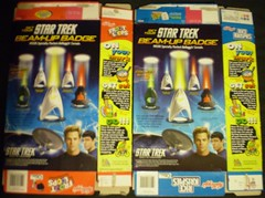 Click here for the back of the Kellogg's Star Trek Beam-Up Badges cereal boxes!