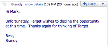 I want to blog about Target- 4