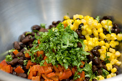 Black Beans, Corn, Roasted Peppers, Cilantro