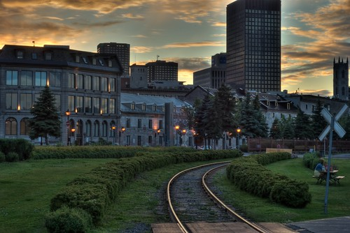 Old Montreal at Sunset (HDR)