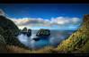 Admiral's view... (Chantal Steyn) Tags: ocean blue panorama water rock landscape island see coast nikon view fisheye jade vegetation hdr admirals d300 vulcanic cokin gnd 6exp goughisland