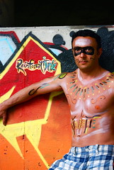Ray'n Forest (Tomitheos) Tags: railroad portrait toronto canada art catchycolors rainforest rocks flickr stones avatar traintracks picture optical pic daily bodypaint photograph aboriginal capture now bodyart today 2009 shiningstar waterproof malemodel bodygraffiti tatouage rainman nativeindian stockphotography surferdude temporarytattoo urbanite rayman rainbowcolors halfdressed urbangraffiti mysticalart hardrocks redyelloworange shamelesslyshirtless seminudemale hennamehndi urbanink greatwalloffaces aboriginalman artisticcollaborations highcreativity bytomitheos alotoffaces halfnakkid halfnakedfridays seminudeman picassossmile portraitunlimited rainforestink raynman rrrayman airbrushingartwork
