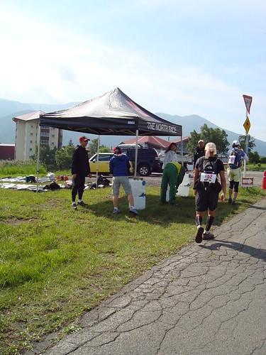 osj shiga-kogen trailrun 50k - aid station