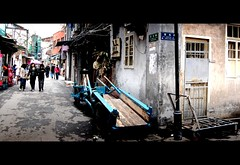 corner of the old town (b56n22) Tags: china street old city bw blackwhite nikon asia shanghai poor dirty stadt   rotten schwarzweiss narrow    d40