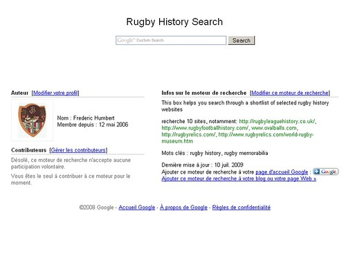 Rugby History Search