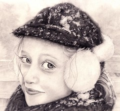 After the snowball fight-pencil drawing (andream66) Tags: portrait bw art illustration pencil sketch artwork drawing drawings snowballfight pencildrawing pencilportrait top20childrensportraits drawingfromphotograph