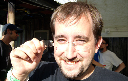 20090705 - X-Day - GEDC0413 - Rev. Spike's self-made piercing-based glasses - please click through to leave a comment on FlickR