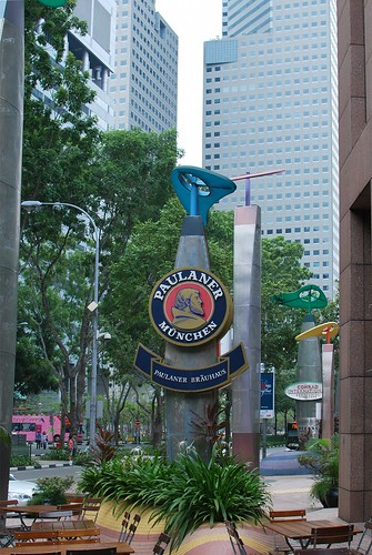 Outside Paulaner in Singapore