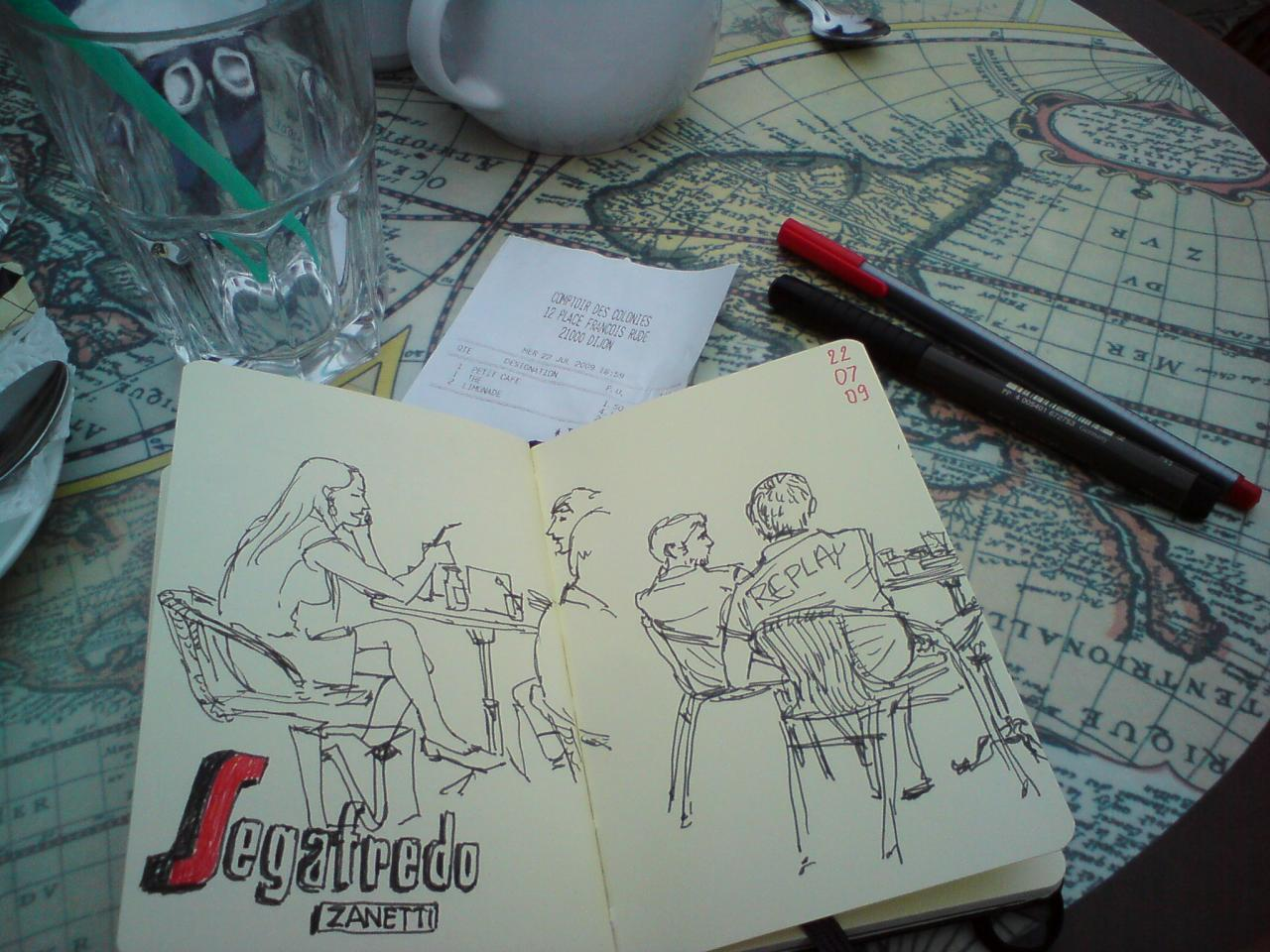 Café sketching in Dijon