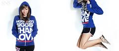 Jump! ({SNS Photography}) Tags: lighting blue cute love girl fashion canon studio fun skinny hoodie lyrics jump jumping diptych midair merch outtake xti strobist myfavoritehighway orlandophotography districtlines cactuskf36 snsphotography