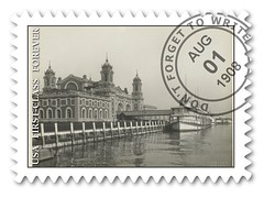 Sample of a postage stamp made using a Flickr Commons photo