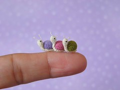 Snails! (MUFFA Miniatures) Tags: pet anime cute miniature funny doll crochet snail amigurumi dollhouse lug muffa dollpet cdhm threadanimals threadminiature