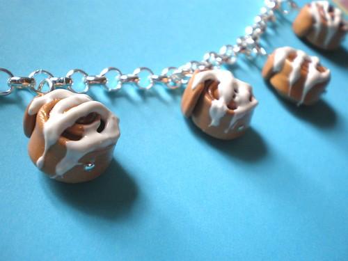 Cinnamon Rolls Charm Bracelet :)