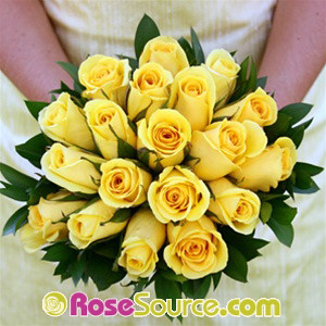 My Wedding Place: Yellow Roses Ruscus Bridesmaid Bouquet