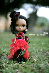 My Autumn girl for the Blythe Tea Party