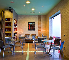 Restaurant (Zoomart Design) Tags: modern table restaurant hide zebra