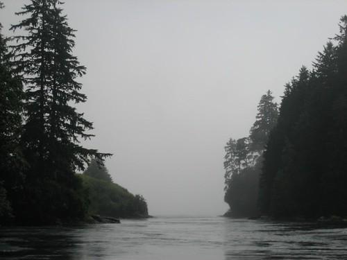 Nitinat Narrows, driving to the ocean