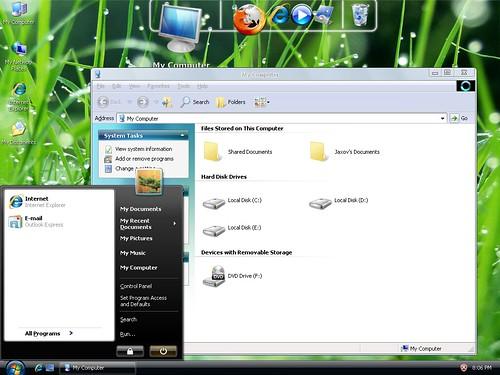 3919809588 8e0e4463ac Windows 7 And Vista Themes / Visual Styles For Windows XP