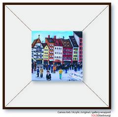 Strasbourg copy (Daniela Mihaylov) Tags: plaza city original winter people art nature colors painting artist paintings hobby daniela dando share drowing bildings drowings vilige mihaylov acrilicpaintingart2009