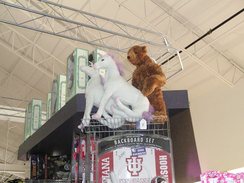 Mr. Bear Showing the Unicorn How It's Done in BouncyTown.